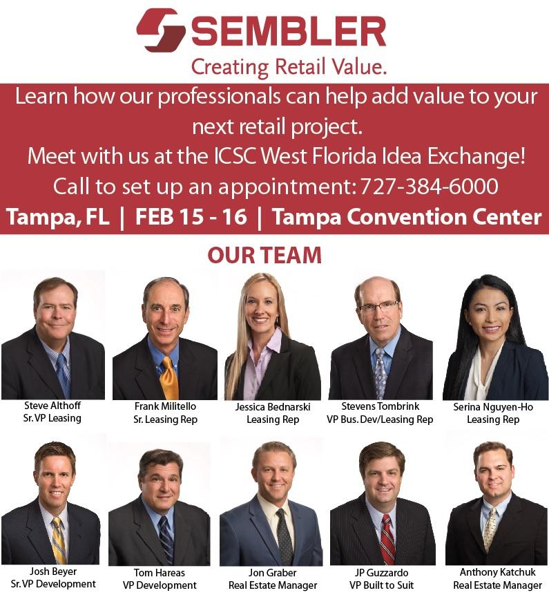 Meet With Us at ICSC West Florida Idea Exchange