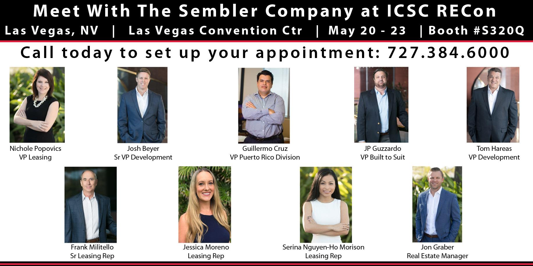 Meet With Sembler at ICSC RECon 2018